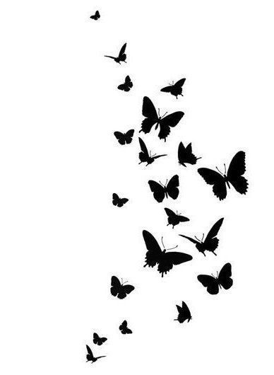 Aesthetic Butterfly Wallpaper Black
