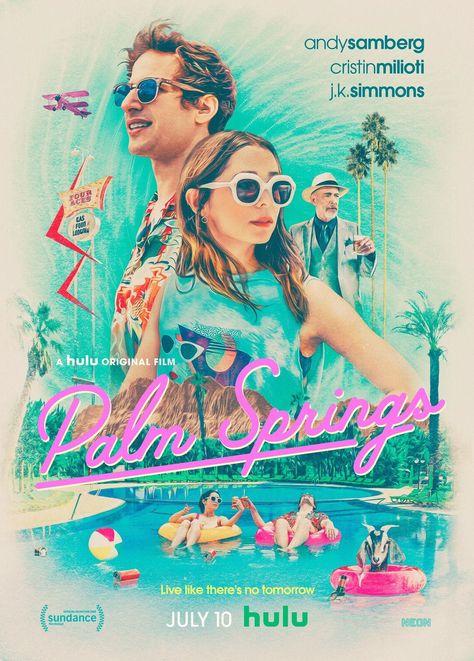 Palm Springs Movie Poster Glossy High Quality Print Photo Wall Art Andy Samberg Cristin Milioti Sizes 60X90Cm – Poster   Canvas Wall Art Print