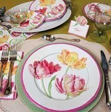 Caspari Tulip Dance | paper plates and napkins | Caspari | Pinterest | Napkins Interiors and Room & Caspari Tulip Dance | paper plates and napkins | Caspari | Pinterest ...