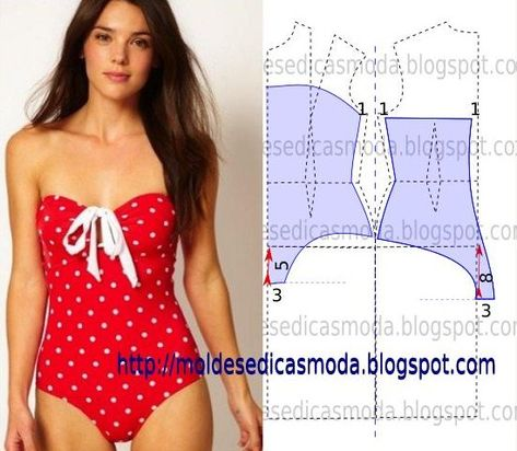 strapless bodysuit / swimsuit pattern, perfect for lazing on a lounge chair enjoying the summer sun