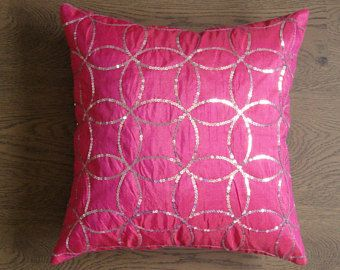 Accent Pillow Cover Silver Metallic