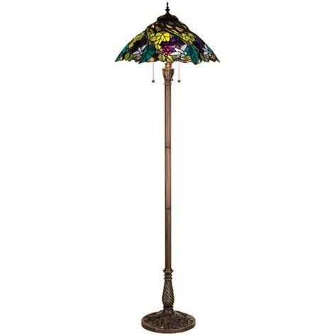 Meyda Tiffany 64.5 Inch Spiral Grape Floor Lamp 99339