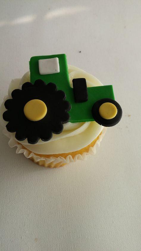 Tractor cupcake