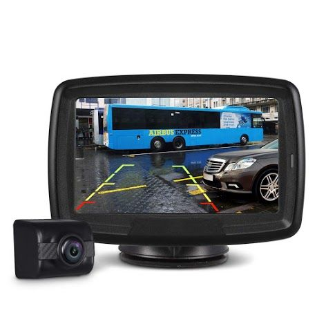 Car Rear View Backup Reverse Camera 4.3/'/' TFT LCD Monitor Wireless Parking Kit