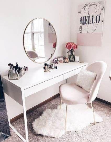 Makeup Vanity Chair Bedrooms Desks 45 New Ideas Pink Bedroom Decor Simple Bedroom Room Decor