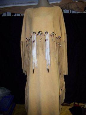 Bd 177 Buckskin Dress Native American Arts Lost River Trading Company Indianer Kleid
