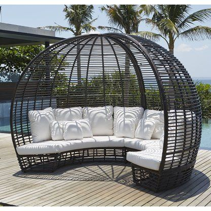 Luxury Wicker Rattan Outdoor Furniture Perigold Outdoor Daybed Patio Daybed Outdoor Bed