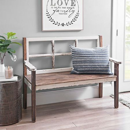 Pleasant Product Details Distressed Wooden Windowpane Bench In 2019 Ncnpc Chair Design For Home Ncnpcorg