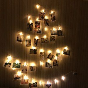 Ideal Gift for Bedroom Decoration Indoor Fairy String Lights for Hanging Photos Pictures Cards and Memos USB Operated, Warm White 8 Modes 40 LED Photo Clip String Lights with Remote