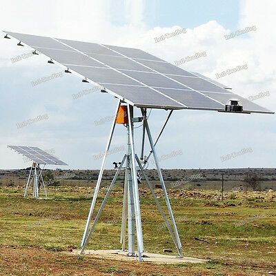Complete Dual Axis Solar Tracker Solar Panel Tracking System Sunlight Track Kit Ebay In 2020 Solar Tracker Flexible Solar Panels Solar Panels