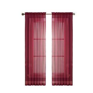 Window Elements Diamond Sheer Voile 56 X 95 In Rod Pocket Curtain