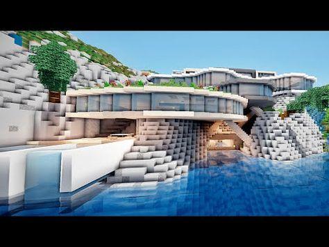 MINECRAFT TUTO MAISON MODERNE !! :) - YouTube   Minecraft ...