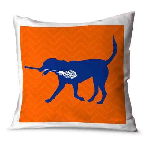 Boys Lacrosse Pillow Max The Lax Dog