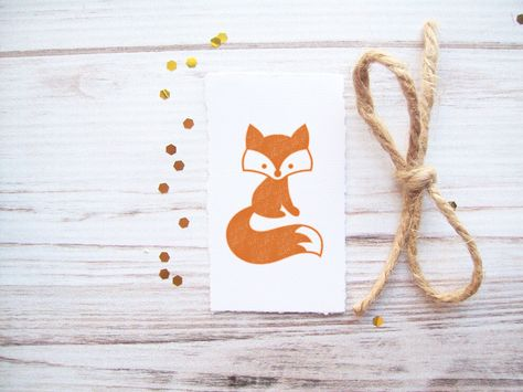 Fox Rubber Stamp Forest Critter Woodland Pictures