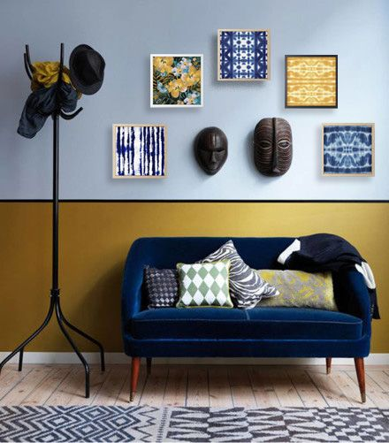 Love The Geometric In This Living Room So Contemporary Espcially The Colour Combination And Metallic Geometric Living Room Geometric Decor Living Room Paint