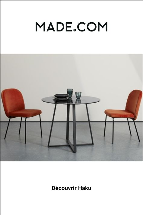 Made Com Tables Salle A Manger Noir In 2020 Round Dining Table