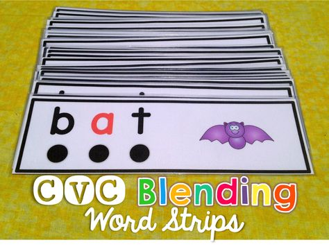 CVC Blending Word Strips will provide practice for sounding out and blending over 100 words.