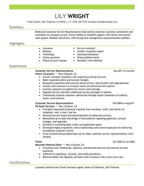 Resume Examples 2018 Customer Service Customer Service Resume