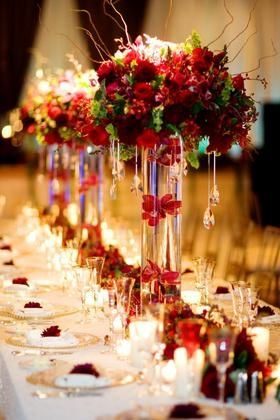 Astonishing Were Obsessed With This Rich Red Asian Themed Table Decor Download Free Architecture Designs Ferenbritishbridgeorg