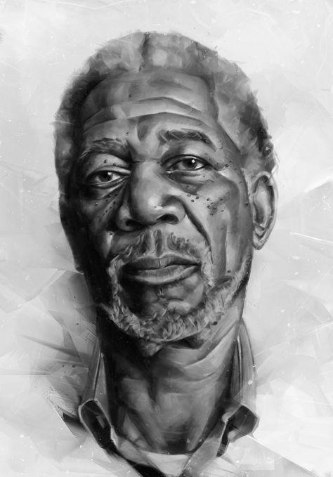 Portraits of actors, digital art by Denis Gonchar - Ego - AlterEgo