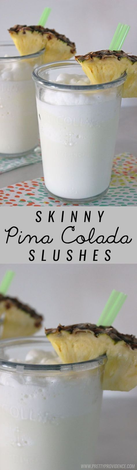 These skinny virgin pina colada slushes are amazing! A totally guilt free and refreshing summer drink! @prettyprovident
