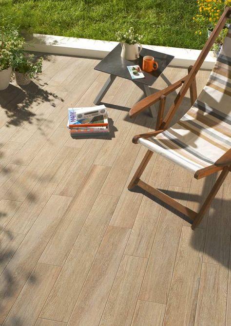 Terrasse Avec Carrelage Exterieur Imitation Bois Steinterrassen