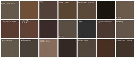 "Dark brown paint color swatches from Benjamin Moore.  We ended up painting our living room Sherwin Williams ""Sticks & Stones"".  Love it!"