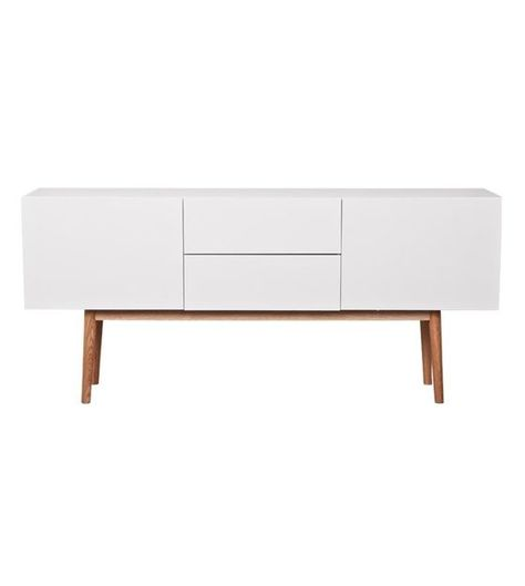 Zuiver Tv Kast.Tv Meubel Kast High On Wood Wit Met Lades En 2 Deuren 160x40x71