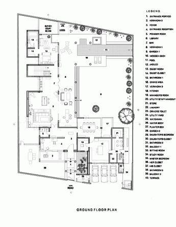 Gallery Of The Library House Khosla Associates 21 Library Floor Plan Home Design Floor Plans Ground Floor Plan