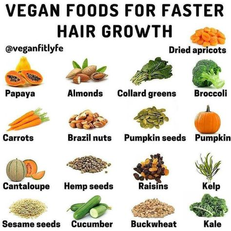 Vegan Foods For Faster Hair Growth The first thing to do for hair growth is to eat fruit. Fruits have many vitamins and beneficial… New Hair Growth, Vitamins For Hair Growth, Hair Growth Tips, Hair Growth Food, Hair Vitamins, Herbs For Hair Growth, Vegan Vitamins, Hair Tips, Vitamins For Vegetarians