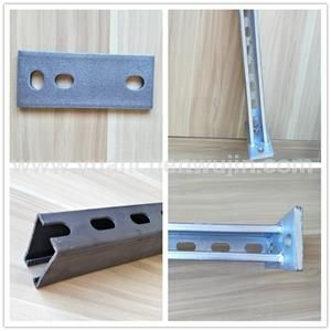 Galvanized Cable Tray Bracket Metalstamping Rectangular Tube Size 40mm 40mm Length 600mm Carbon Steel Size 145mm Cable Tray Metal Stamping Galvanized