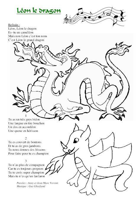 Qu Est Ce Qui Est Jaune Et Qui Attend Chinoise Leon Le Dragon Plus Coloriage Dragon Dragon Maternelle