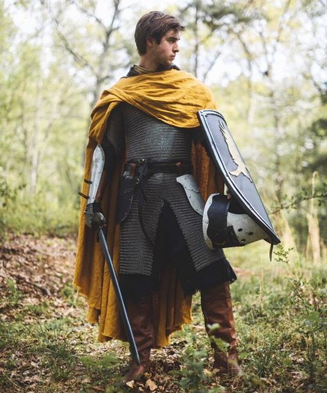Knight's Cape – Medieval Linen Cloak - DarkSide.