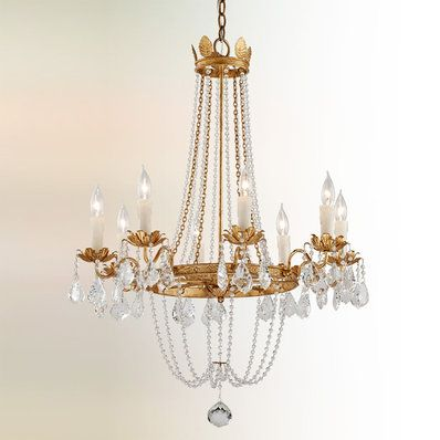 Classic Crystal Glam Chandelier 6 Light Glam Chandelier Transitional Chandeliers Chandelier Lighting