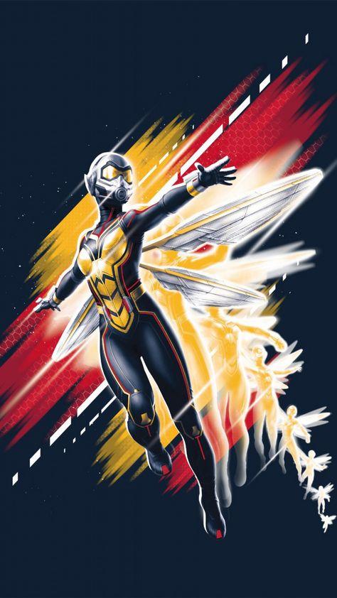 Superhero, Wasp, Ant-man and the wasp, 2018, movie, art, 720x1280 wallpaper