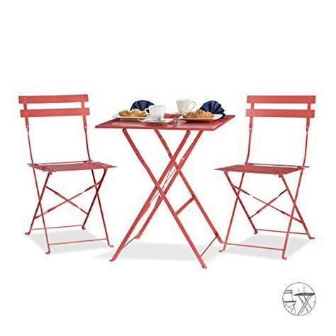 Relaxdays Ensemble table et chaises de bistrot pliants en 60 ...