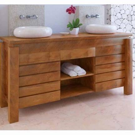 meuble de salle de bain bois exotique
