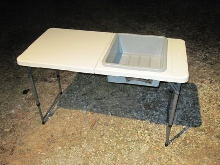 Camping Sink - Why didn\'t I think of that. the tub has a drain too ...