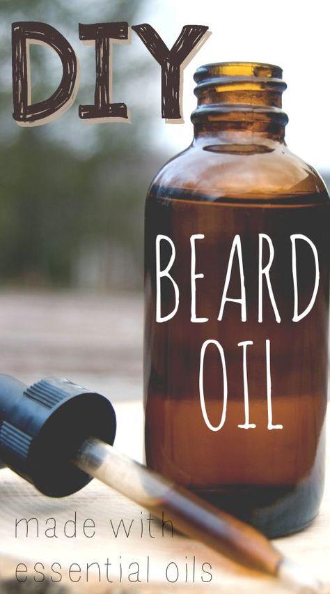DIY beard oil recipe, made with essential oils. Perfect homemade gift idea for men for Christmas, birthdays, etc!