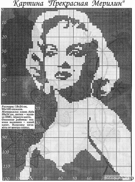 Черно белые картинки для вышивания крестиком