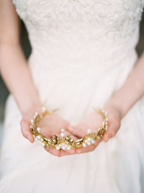 Braut Krone Goldkrone Hochzeit Krone Goldene Hochzeit