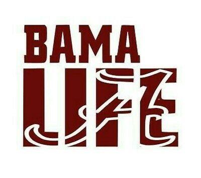 Sponsored Ebay Bama Life Car Decal Large 10x10 Alabama Decals Decals Alabama Crimson Tide In 2020 Alabama Crimson Tide Logo Crimson Tide Football Roll Tide