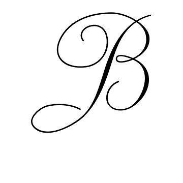 Lateinischer Grossbuchstabe B Stilgruppe 3 Buchstabe