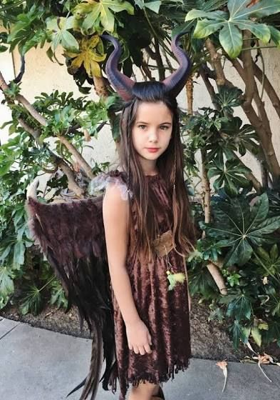 Maleficent Kid Costume With Wings Halloween Autumn To Do