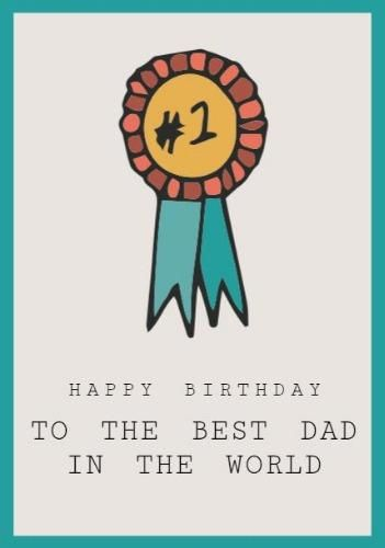 A Happy Birthday Dad Card Template With A Medallion Illustration On A Beige Background Happy Birthday Dad Cards Happy Birthday Dad Dad Cards