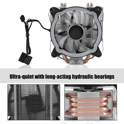 27 40 12cm 4 Heatpipes 12v Cooling Fan Led Cpu Cooler Heatsink