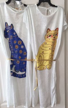 Abba Cat Dress, 70 s themed Fancy Dress Costume white dress with a cat motif on the front It s just like the one worn by the famous