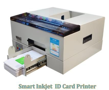 Smartautomaticinkjetpvcidcardprinter Pvc Id Card Printer With New Design With Inkjet Printing Save More Print Cost Card Printer Inkjet Printing Inkjet