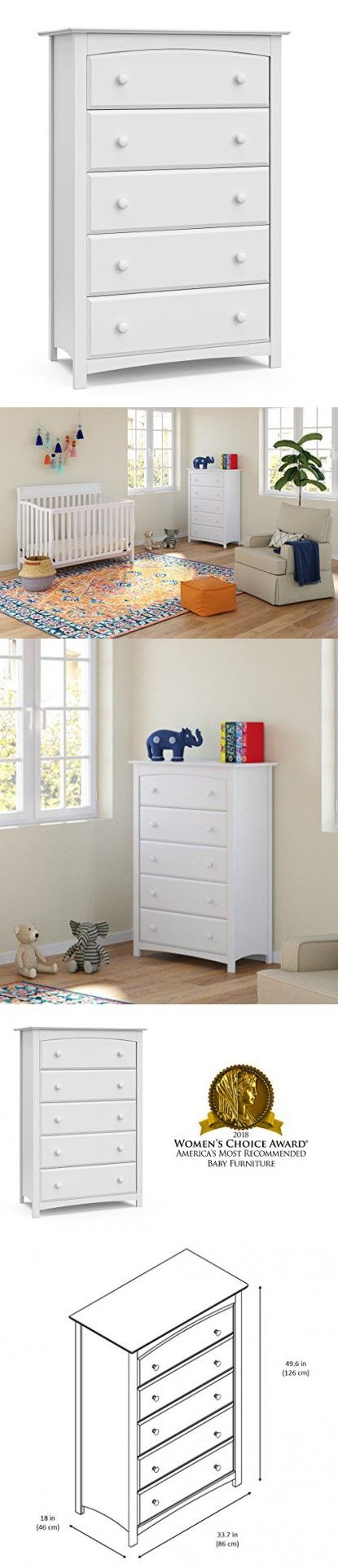 Storkcraft Kenton 5 Drawer Universal Dresser White Kids Bedroom Dresser With 5 Drawers Wood And Composite Construction Ideal For Nursery Toddlers Room Kids Bedroom Dressers Toddler Room Kids Bedroom [ 1925 x 415 Pixel ]