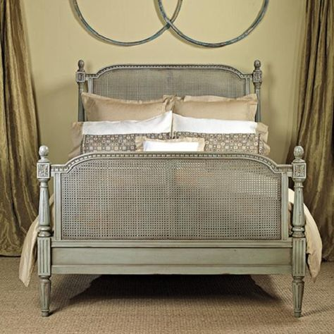 Amelie French Cane Custom Bed & Headboard (CUSTOM COLORS)
